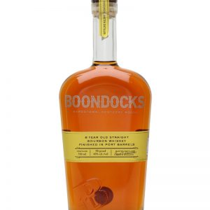 Boondocks 8yr old straight bourbon whiskey finished in port barrels 750ml