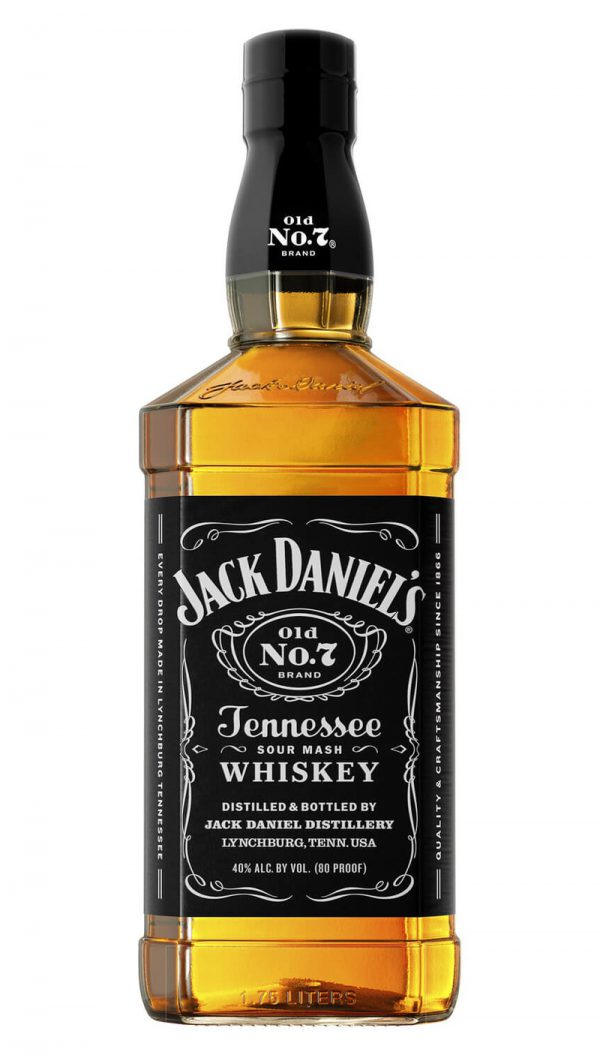 jack daniels sour mash old No. 7 tennessee whiskey black label 750ml